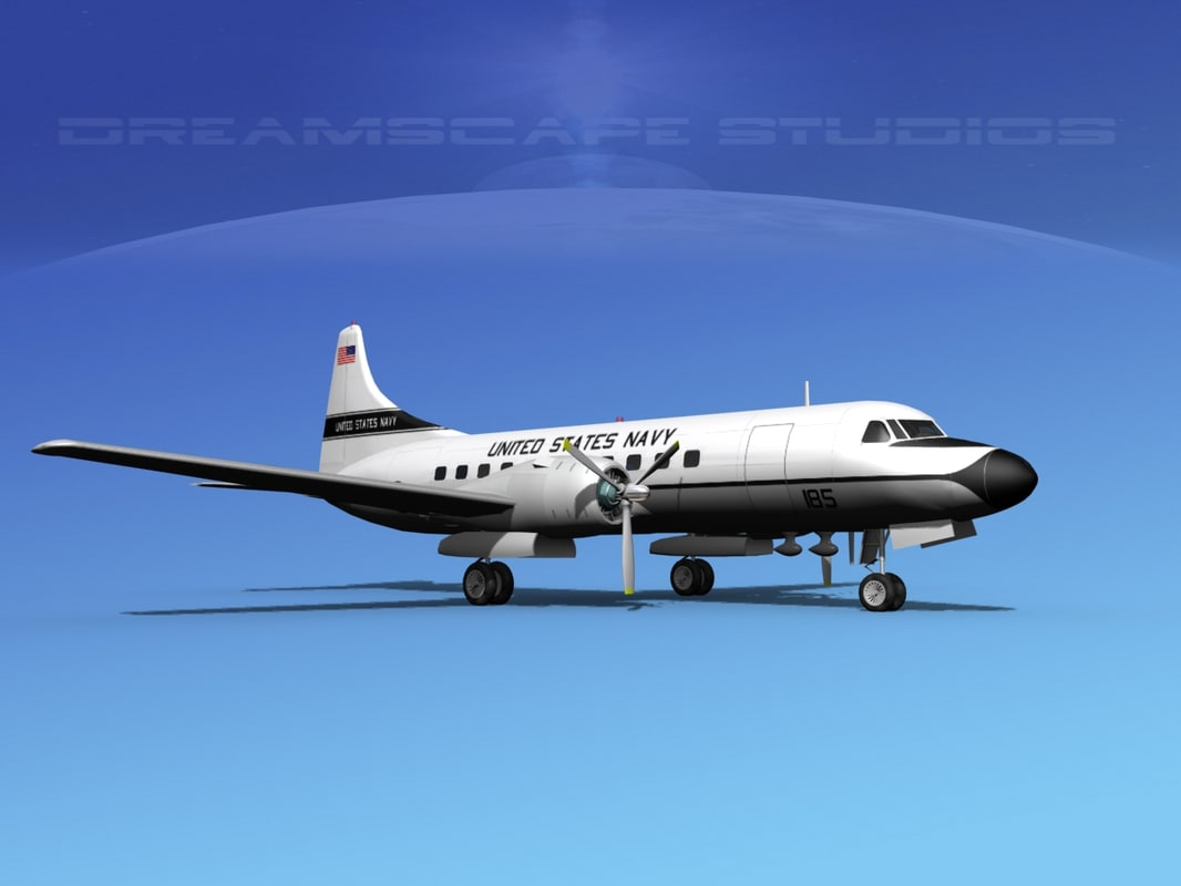 propellers convair c-131 military transport dxf