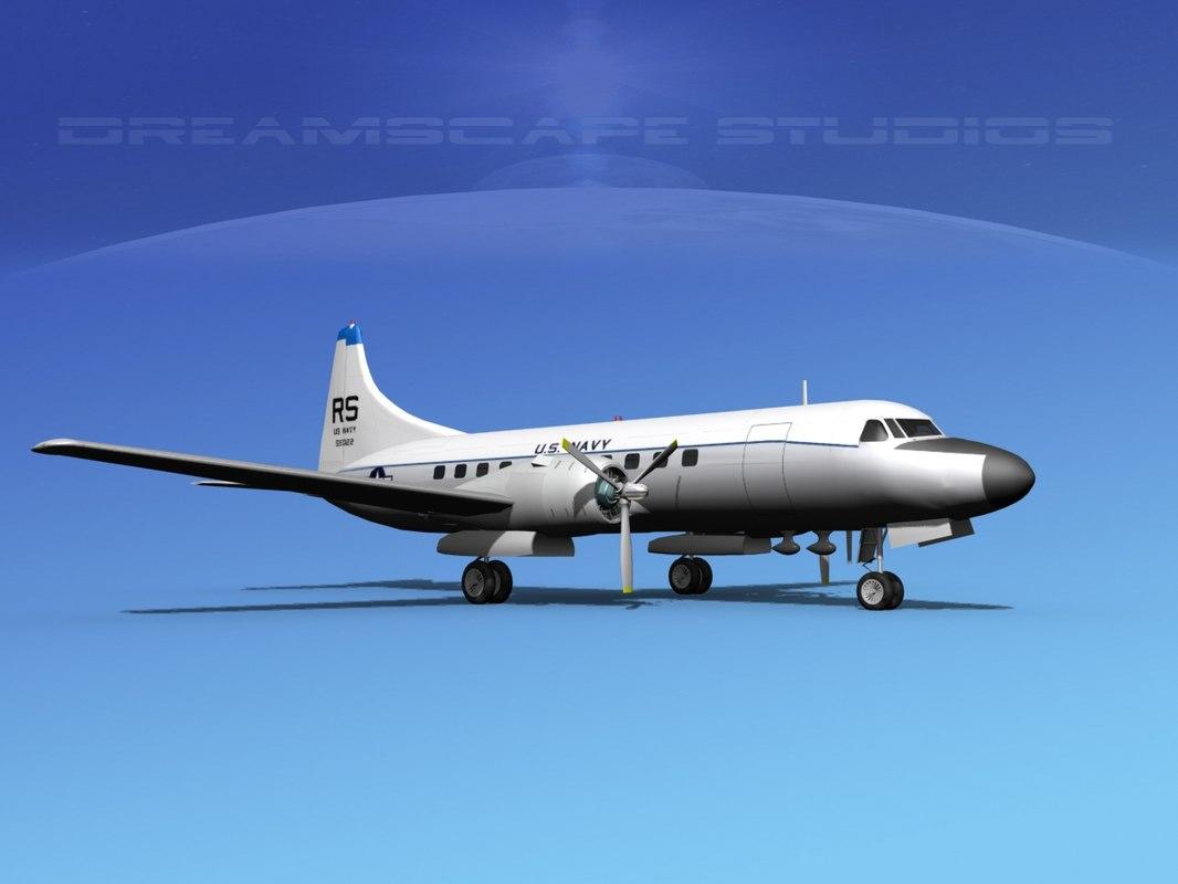 dwg propellers convair c-131 military transport