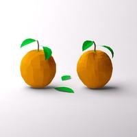 Low poly oranges