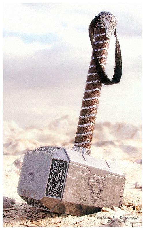 3d thor s hammer mjolnir