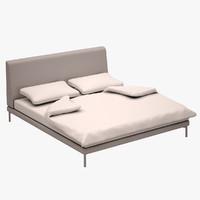 3d model bed set zanotta