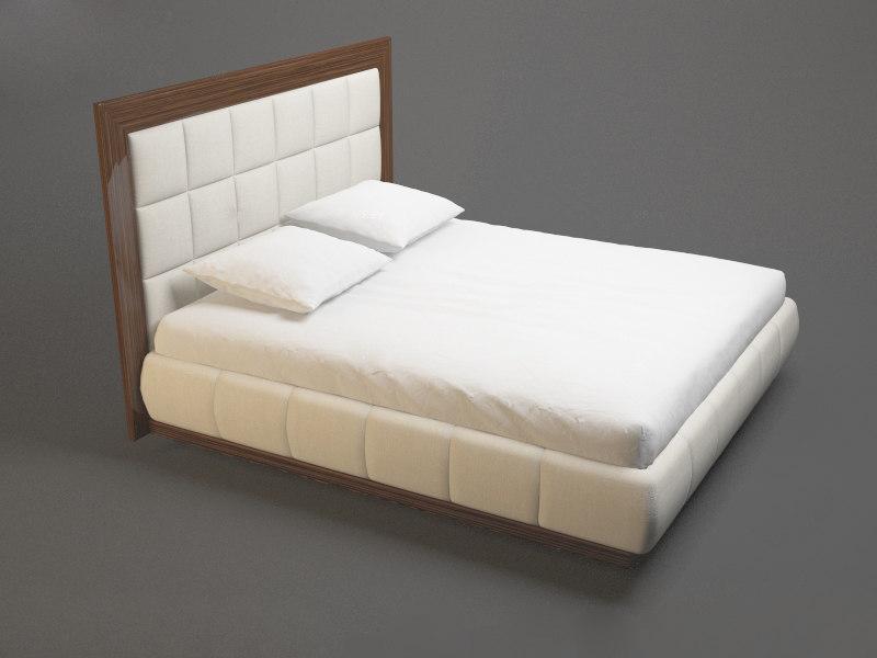 photorealistic modern fashion bed 3d obj