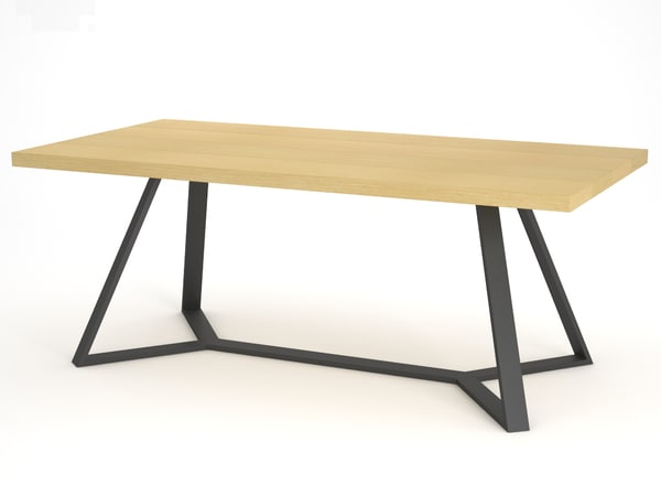 rectangular table domitalia archie-l200 3d model