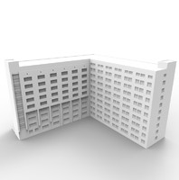 apartment complex 3d obj