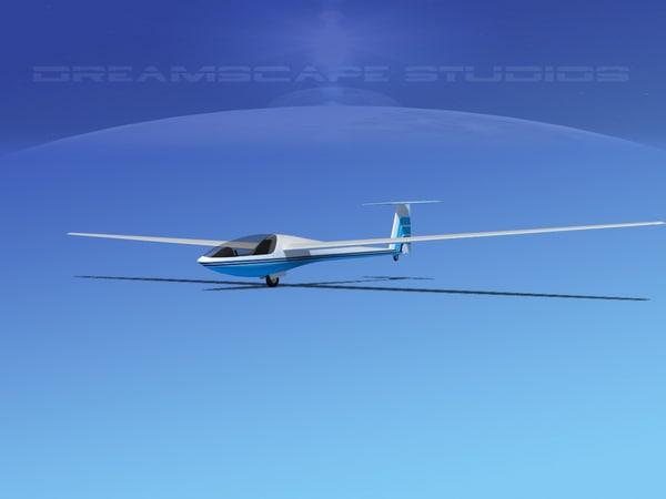 3d aircraft dg-400 model