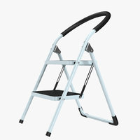 3d step ladder 3 rigged