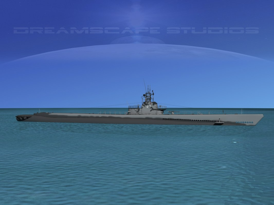 3d model of subs submarines class