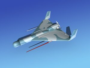 3d model harpy 1 uav