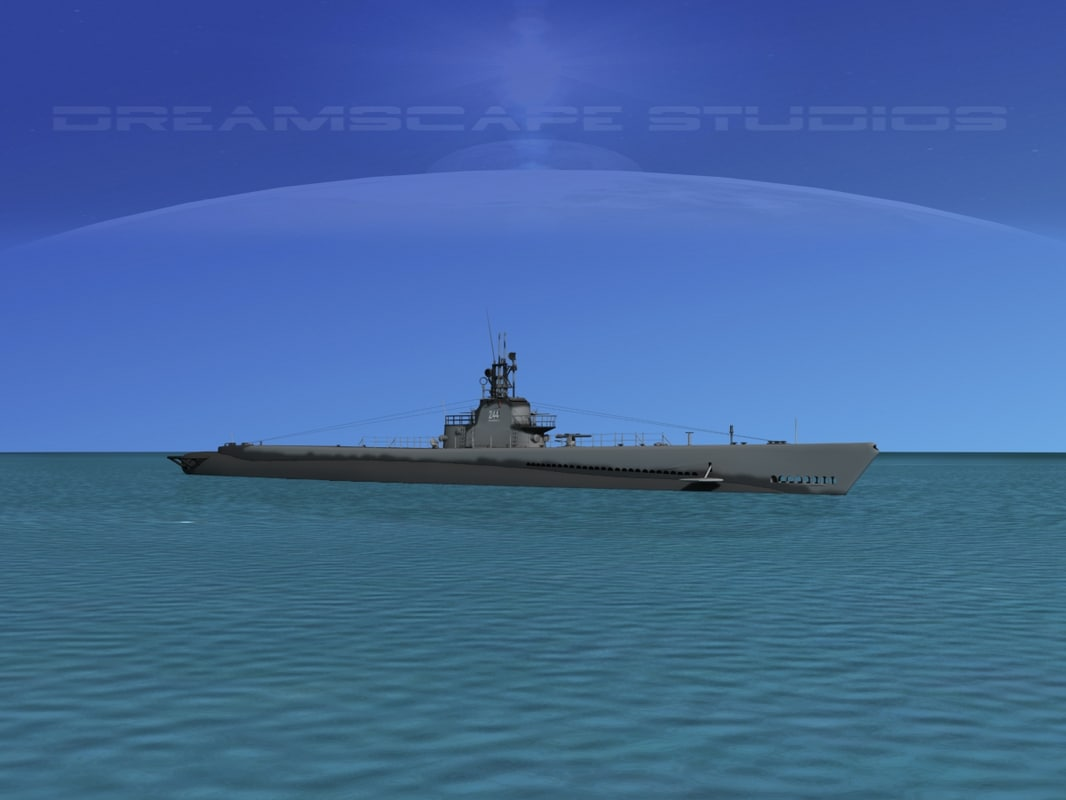 subs submarines class 3d dwg