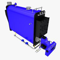 boiler oil 3d model