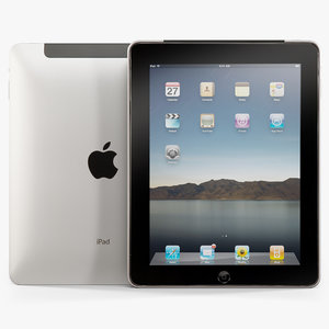 3d low-poly apple ipad model
