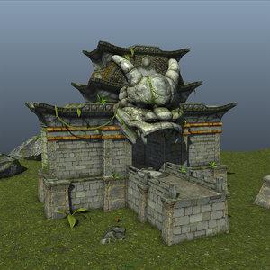 dragon temple 3d model