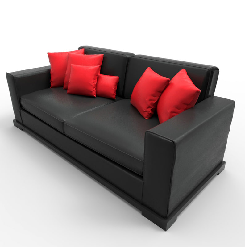 love seat couch 3d model