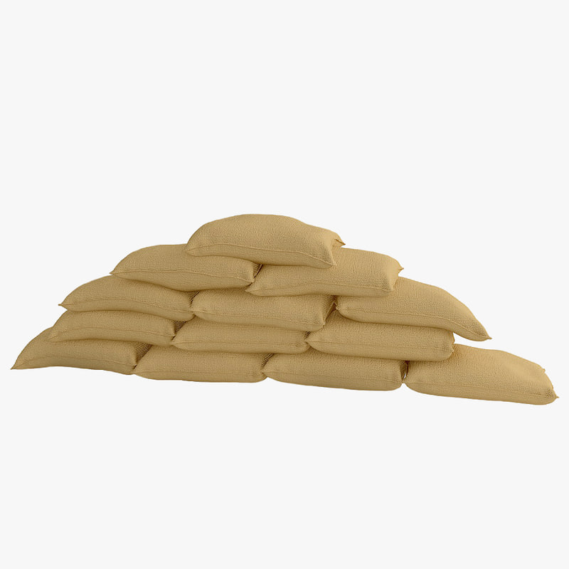 3ds max sandbag bags