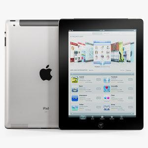 max low-poly apple ipad 2