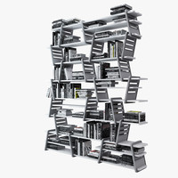 3d books bookcase cia international