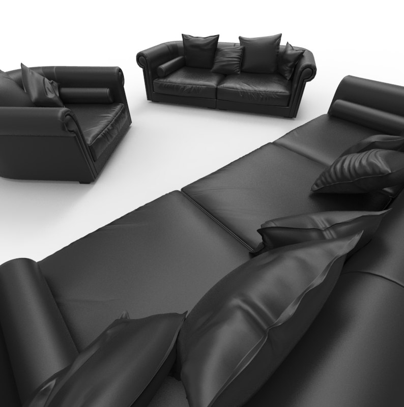 set loveseat seat couch 3ds