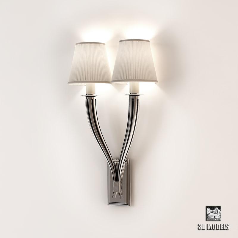 3d wall lamp mayflower double