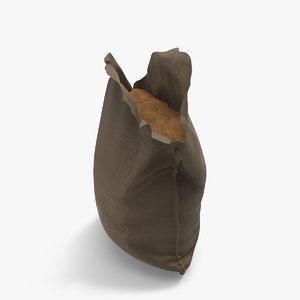 3d model sandbag sand open