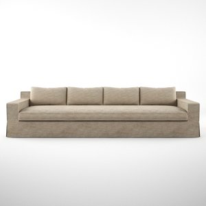 capri sofa 3d obj