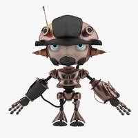 3dsmax mini robot concept