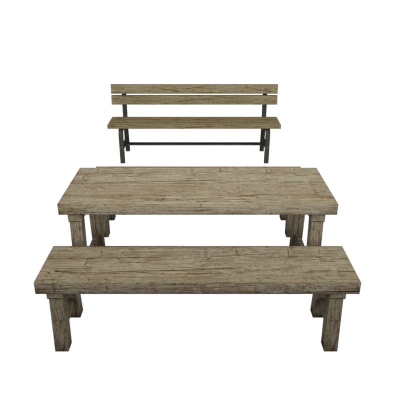 table benches 3d max