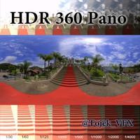 HDR 360 Pano 3D Town Church