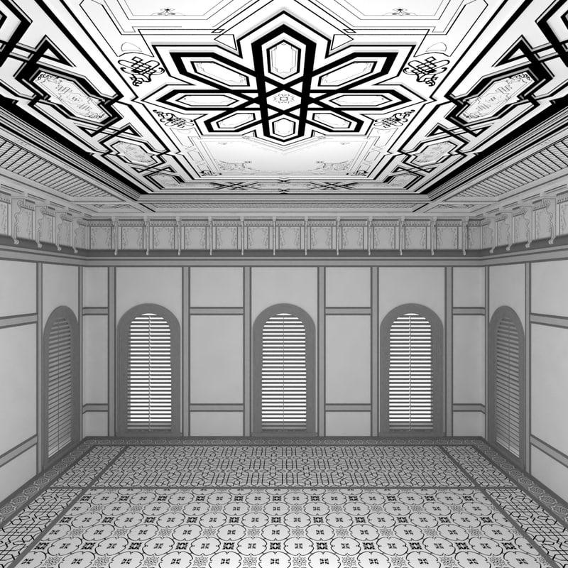scene palace room 3d max
