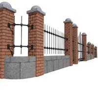3d modular fence model