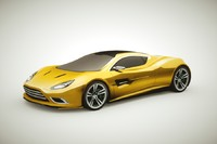 3d generic supercars colors car model