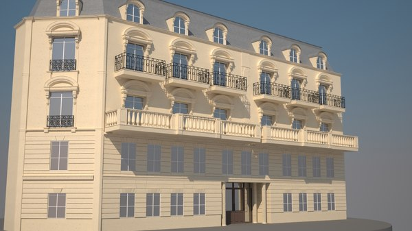 3d model paris haussmann building