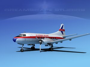 3ds max propellers martin 202 airliners