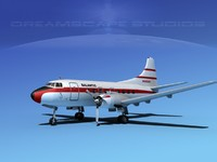 3d model propellers martin 202 airliners