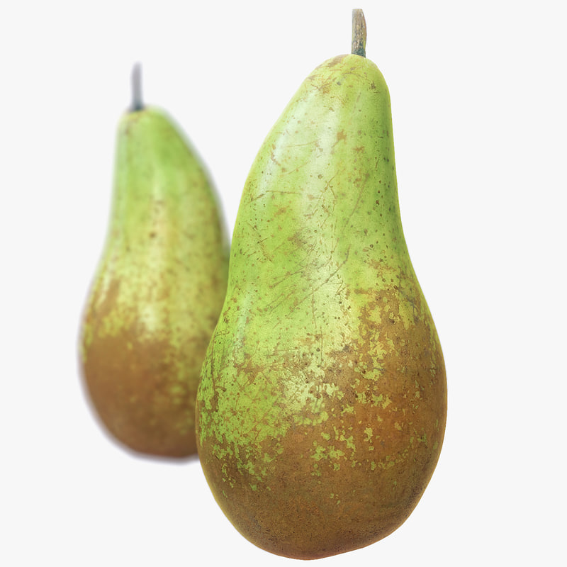 conference pear scanned polys 3d fbx