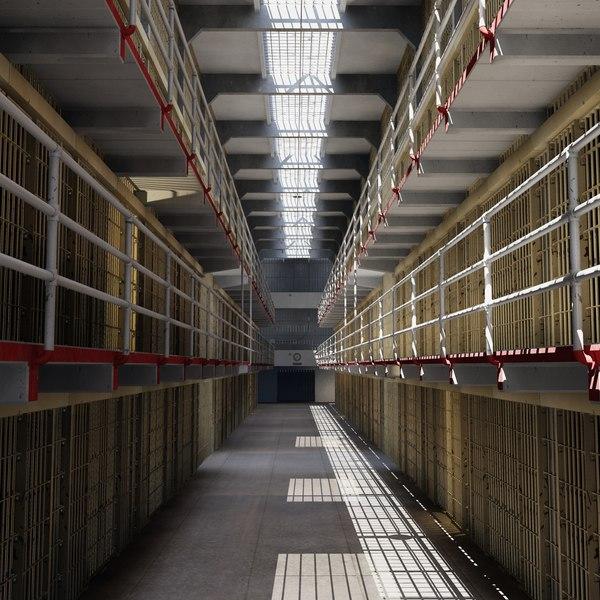 alcatraz cells block model