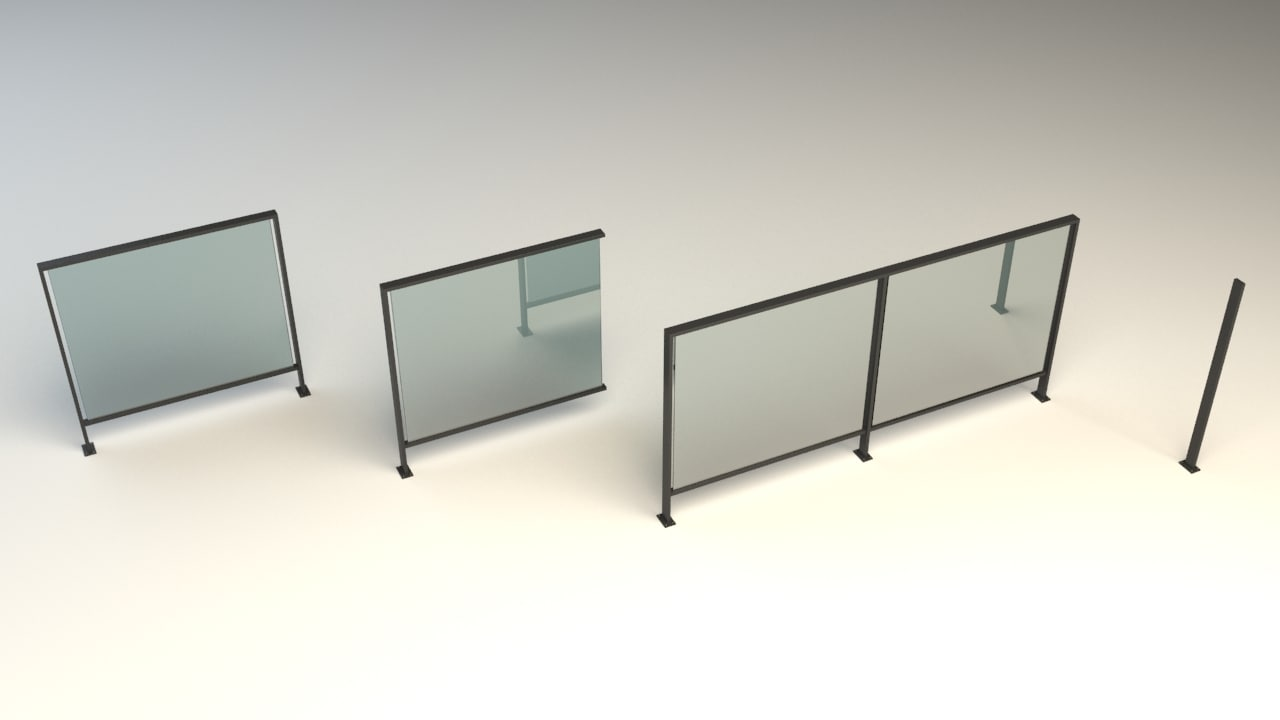 railing steel 3d model