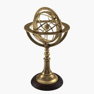 3d armillary sphere model