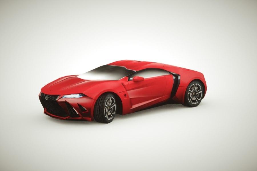 3d model generic supercars colors car