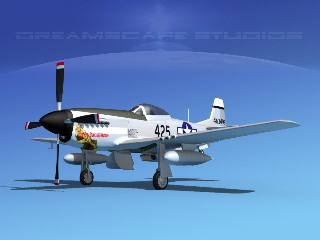 3d model mustang cockpit p-51d
