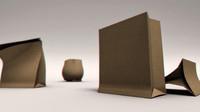 free paper bag rig 3d model
