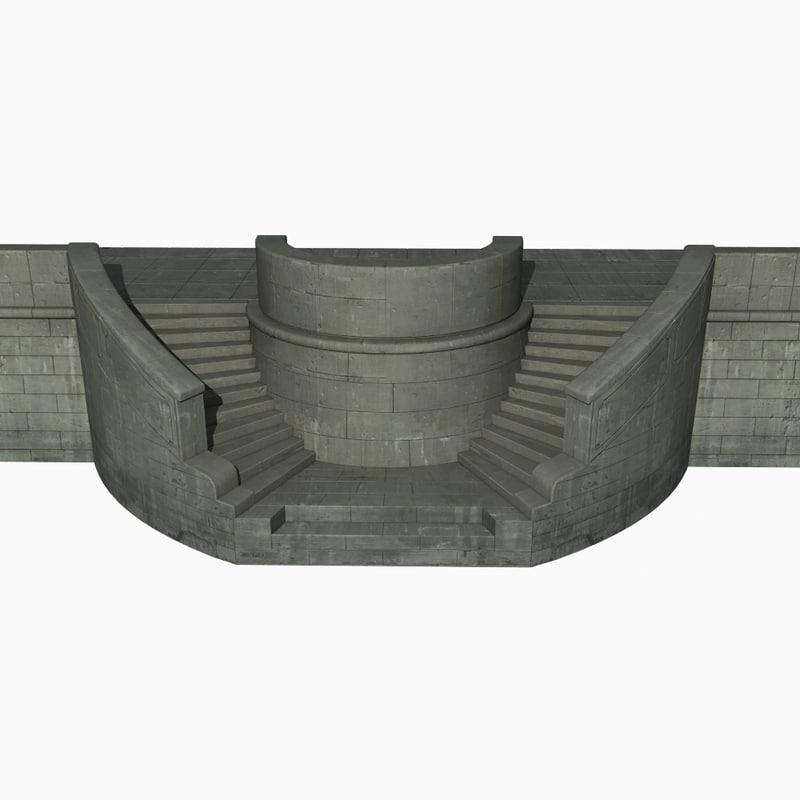 3d harbor wall model