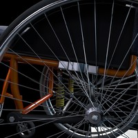 sport wheelchair 3d model
