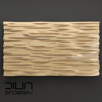 maya wood panel wave