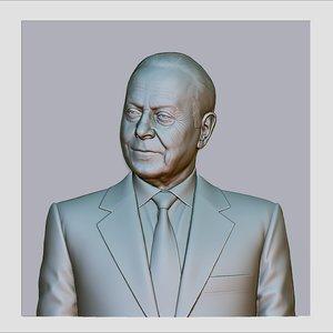 3d heydar aliyev cnc reliefs model