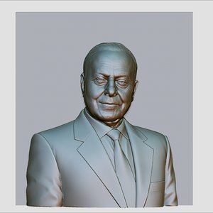 3d model of heydar aliyev cnc reliefs