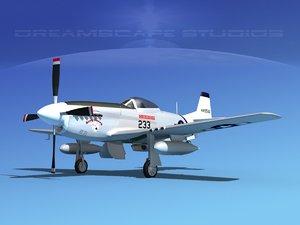 3d mustang cockpit p-51d model