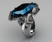 jewellery ring 3d 3dm