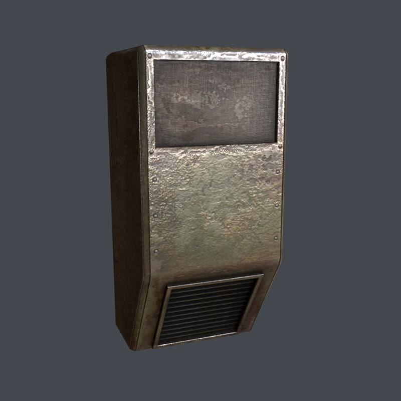 3d model old c unit