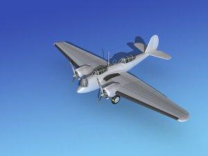 propellers martin b-10 metal 3d model