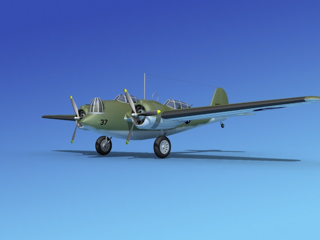 3d propellers martin b-10 bomber model